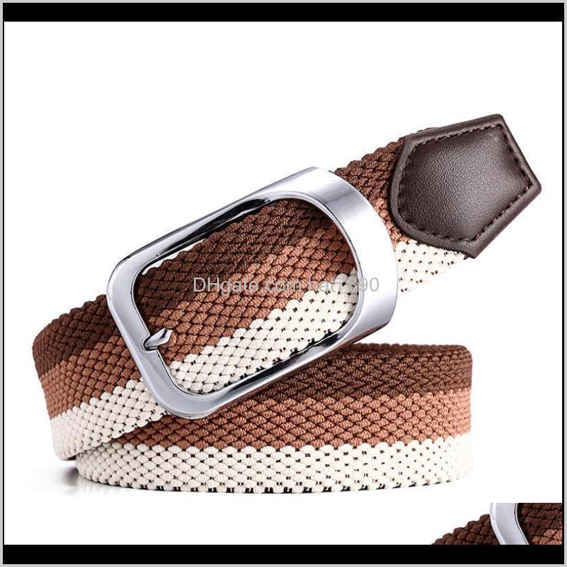 ولديسيسيونيسكس جودة عالية قماش جودة نسج سبيكة معدنية دبوس مشبك الإناث أحزمة الأزياء تنفس الرجال / المرأة عارضة الخصر ب