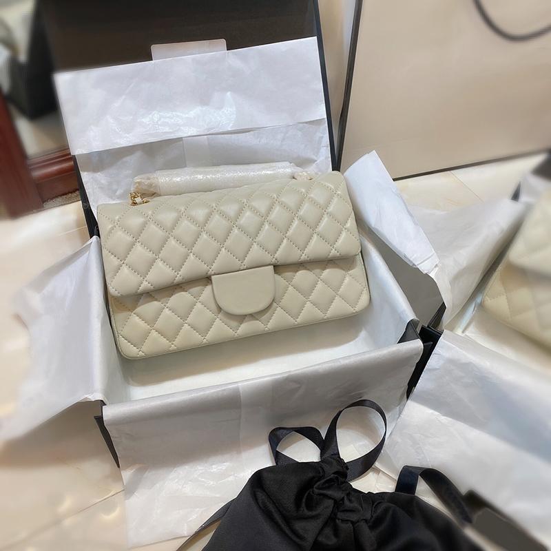 5A + Original Patent Handtaschen Top Qualität Lamm Haut Brieftasche Berühmte Designer Luxus Frauen Geldbörse Gold- und Silberkette Weibliche Packung Großhandel