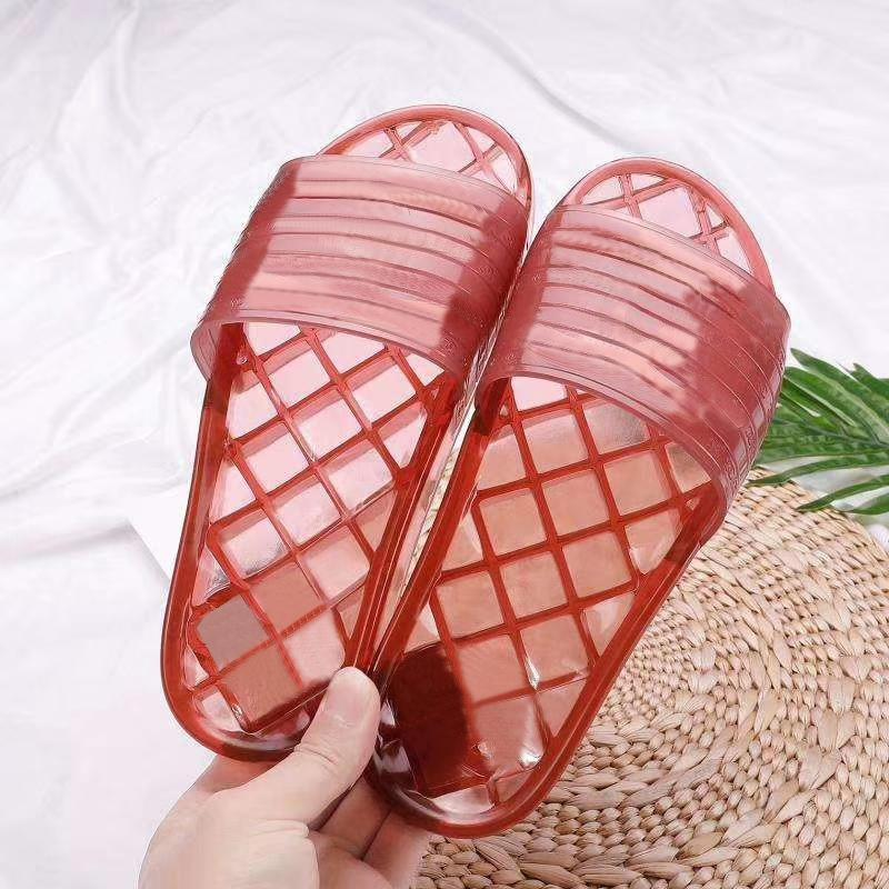 Brand PVC Sandals Well-known Designer Transparent Jelly Slippers Women Outdoor Beach Rubber Men
