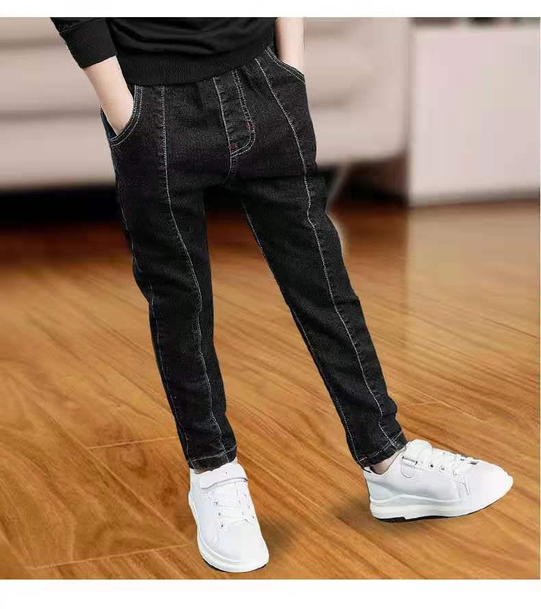 2021 Kinder Frühling Herbst Neue Mittelschule und Universitätsjungenhose Studenten tragen Stretch Jeans