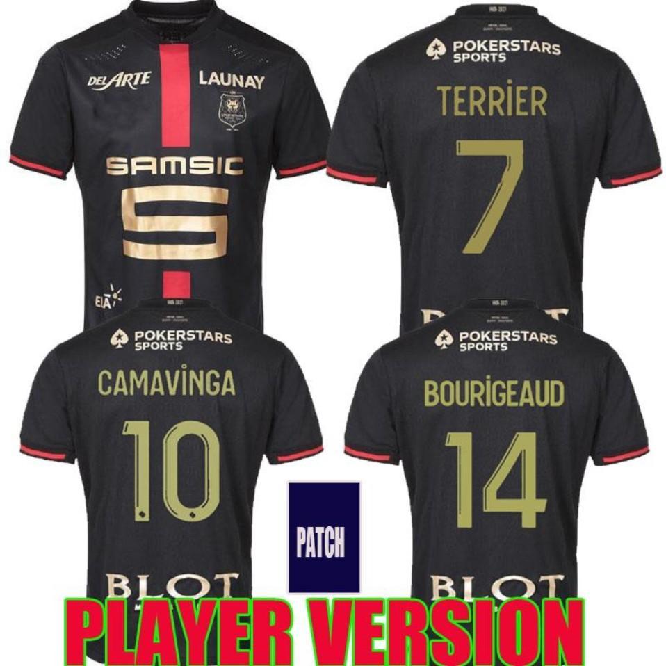 20 21 Rennes Player Version Stade Rennais FC Jerseys de fútbol 120 aniversario Doku Bourigeaud Guirassy 2021 Special Maillots de Pie Twirts