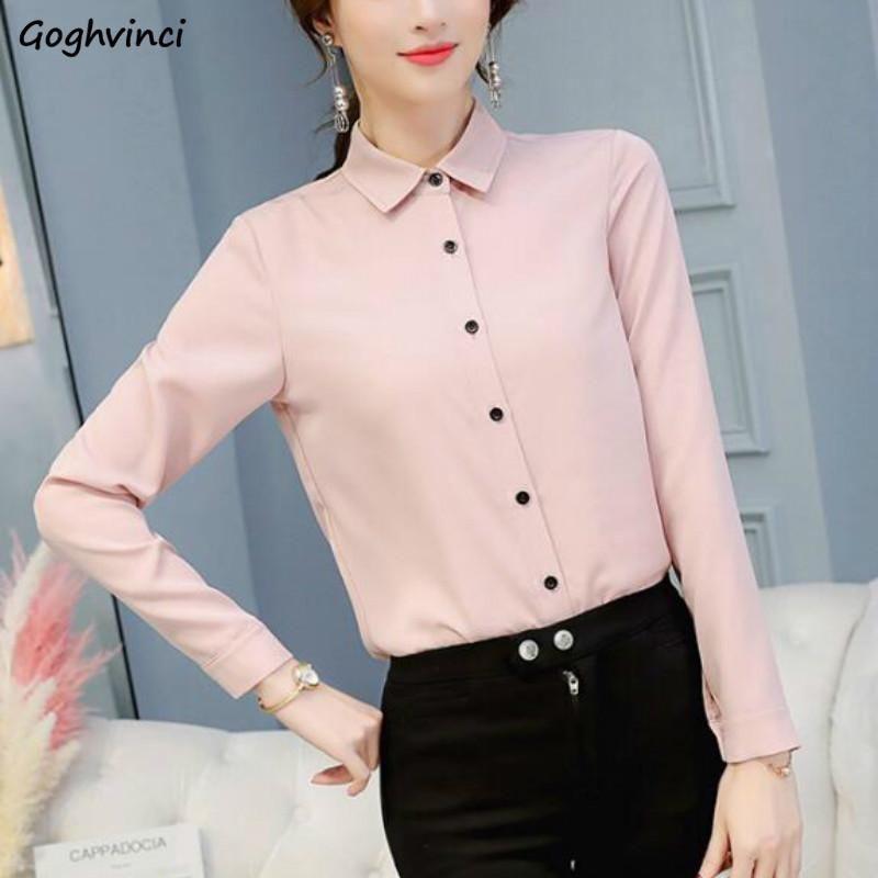 Blusas mujeres verano estilo coreano sólido manga larga elega ocio elegante mujer mujer suelta moda gasa collar damas diarias mujeres sh