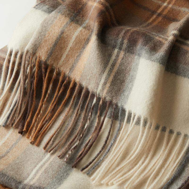 Sciarpe a plaid cashmere scialle signore autunno inverno spessa calda nappa tipo donna sciarpa 210-70 cm 370g