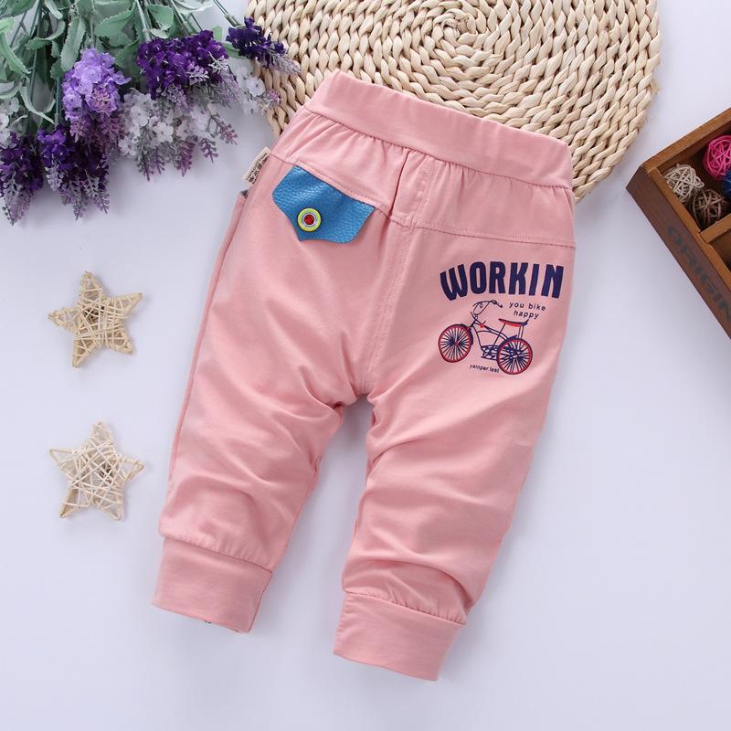 Baby Boy Girls Cotton Bottoms Fashion Toddler Nefant Boys Casual Mid Pants Bambini Ginocchio Pantaloni Pantaloni Pantaloni Cartoni animati