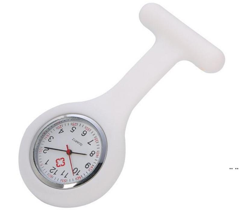 Presente de Natal enfermeira relógio médico relógio de silicone relógios de bolso moda enfermeira broche fob túbica capa doutor silicone relógios de quartzo hwc6908