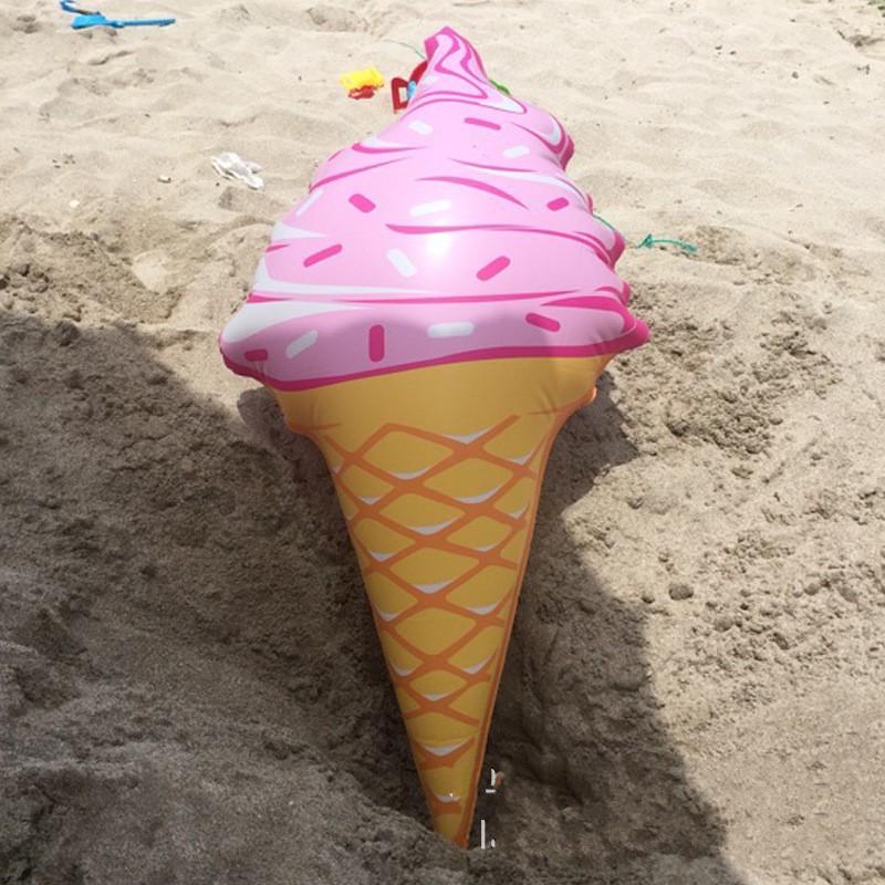 여름 남성과 여성 물 장난감에서 재생 인플레이션 아이스크림 부동 침대 두꺼운 수영 원 6lz B3