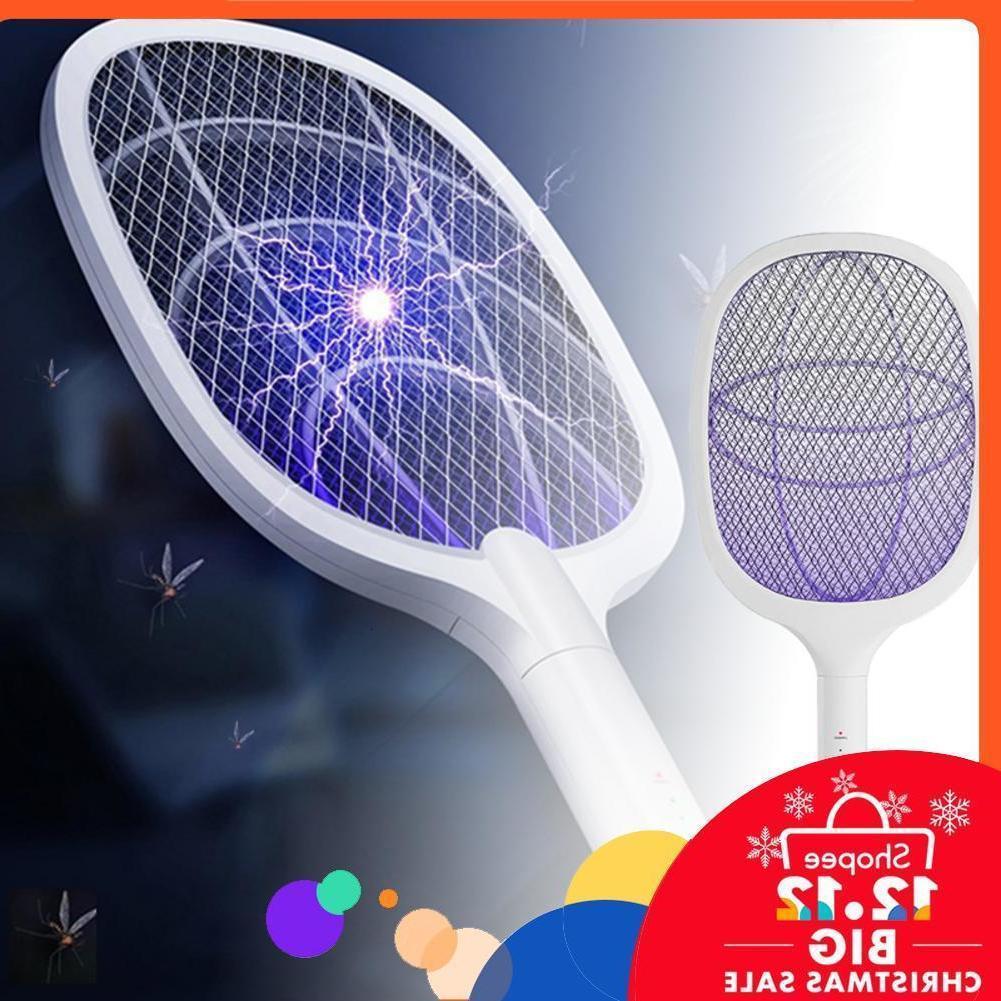 Usb Charable Mosquito Fly Killer et Bug Zapper Raquette Portable Tasse électrique Swatter pour intérieur extérieur