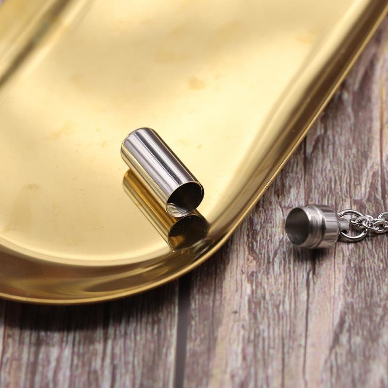 الفولاذ المقاوم للصدأ حرق urn اسطوانة رماد قلادة قلادة مجوهرات هدية البشرية الإلكترونية مع سلسلة له سلاسل