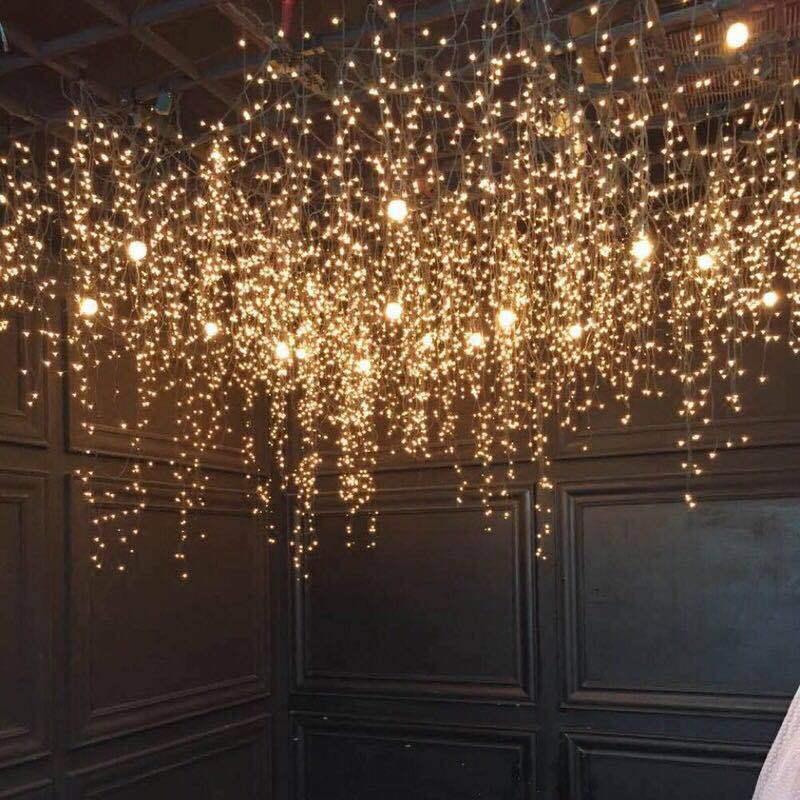 Светодиодная строка огни 3 * 3 м 304 светодиодные окна занавес световые свадьбы домашний сад спальня открытый крытый настенные украшения