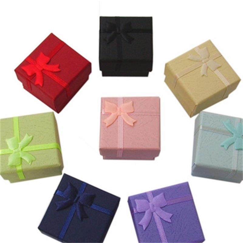 """24 stücke Schmuck Geschenkbox für Ringgröße 4cm (1,6 """") * 4 cm (1,6"""") * 3 cm (1,2 """") Mixfarbe 506 Q2"""