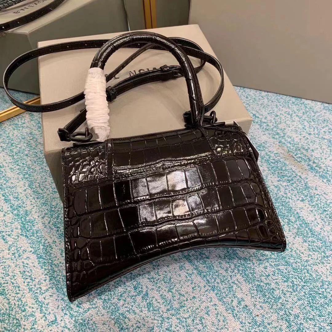 2021 Luxus Umhängetasche Mode Schwarz Handtaschen Frauen Taschen Designer Große Kapazität Frauen Tote Weibliche Krokodil Muster Handtaschen