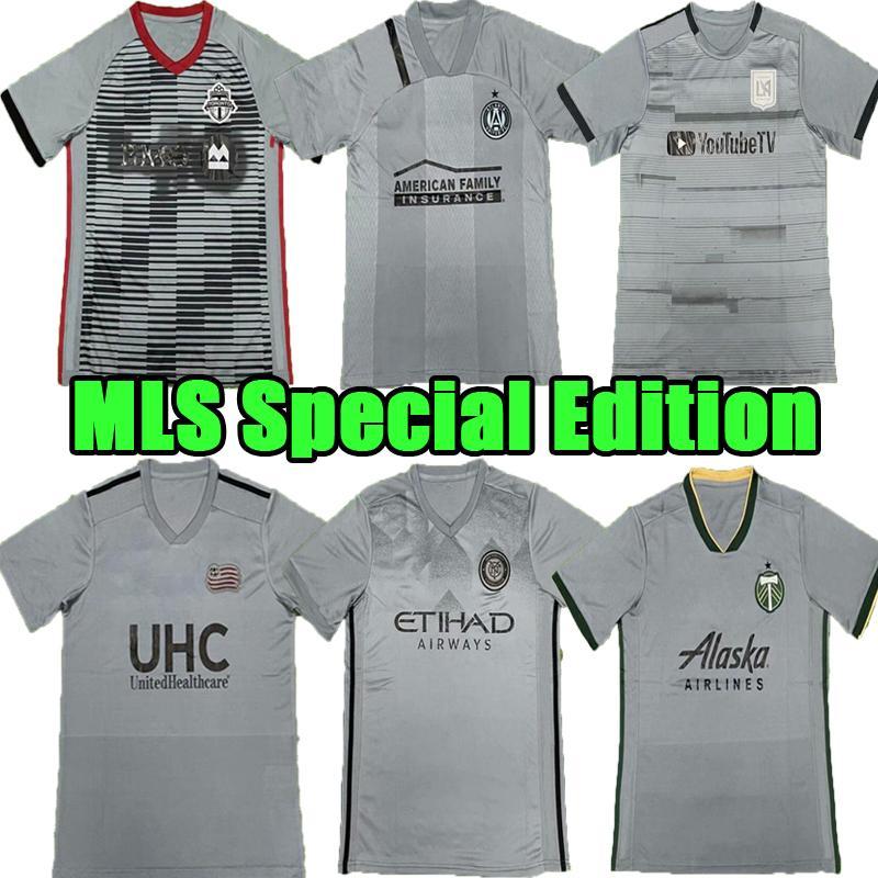 Thaïlande 2021 MLS Edition spéciale Soccer Jerseys 2022 Los Angeles Loggers Atlanta York City Toronto 21 22 Classic Football Shirt Gris 7 Teams Hommes Sportswear Top