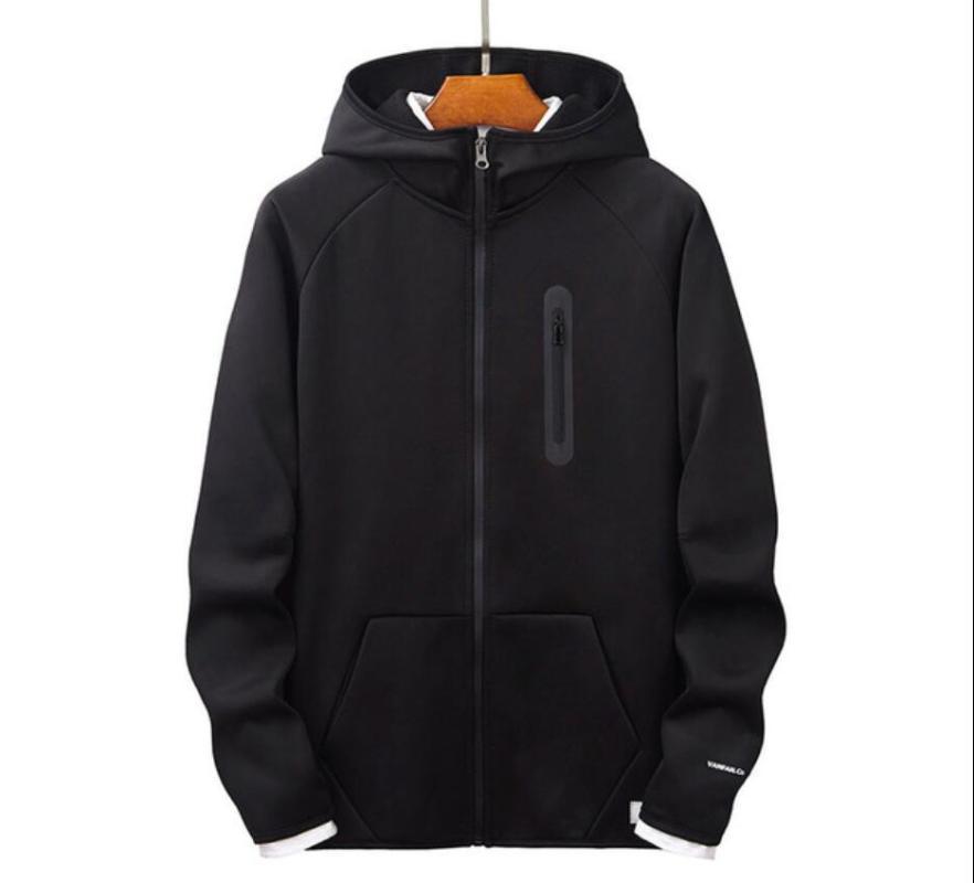 Herren Hoodies Sweatshirts 2021 Männer Frühling Casual Langarm Mens Slim Zipper Hoody Sweatshirt Mit Kapuze Streetwear