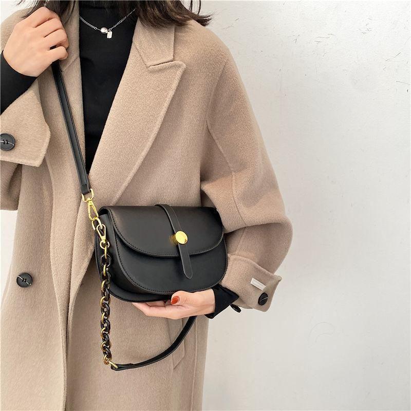 Cuir femmes Saddle Cross Mode Sacs à main pour femmes sacs sacs PU Sac vintage 2021 rabat bandoulière bandoulière corporelle IUHJG