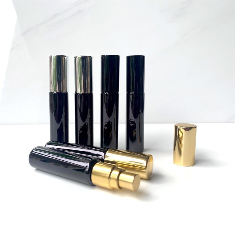 Bouteille de parfum rechargeable de verre UV de 10 ml portable avec bouteilles de pulvérisation d'atomiseur d'aluminium échantillon de récipients vides