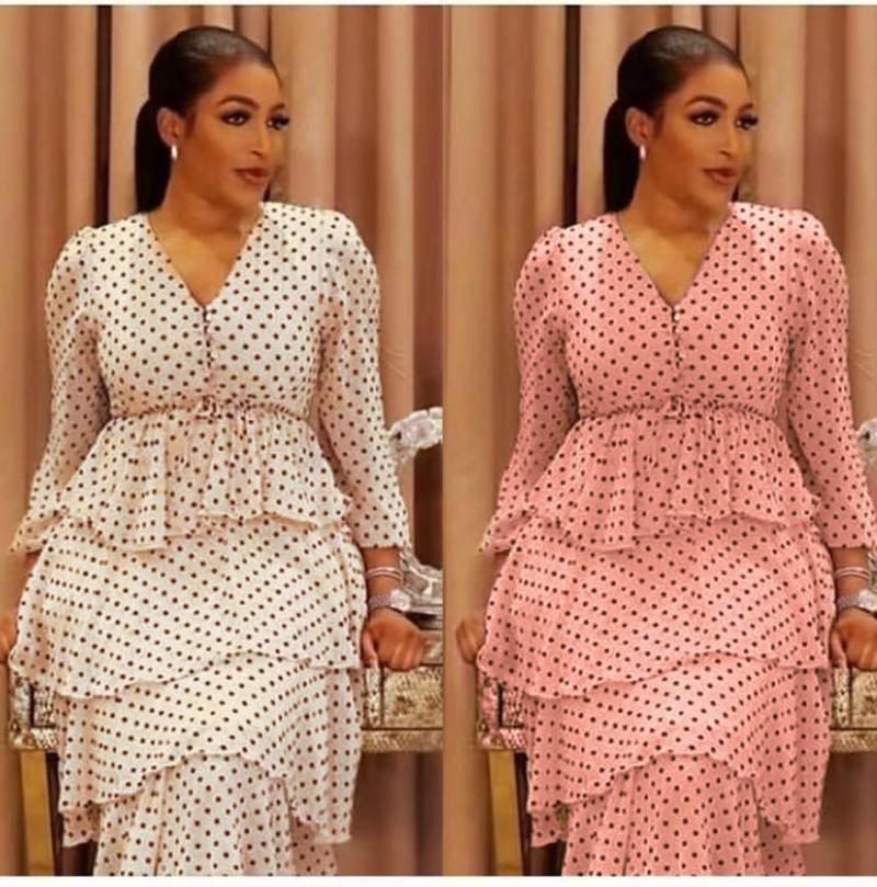Африканские печатные платья для женщин 2021 POLK DOT вечернее платье для вечеринки Дамы TUTU Мода Kaftan Djellaba Femme Европейская одежда