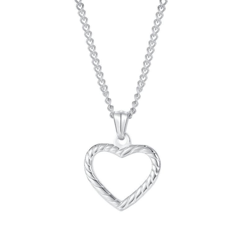 Hollowed out Love Heart Necklaces for Women Stainless Steel Pendants Necklace Fashion Jewelry Gift