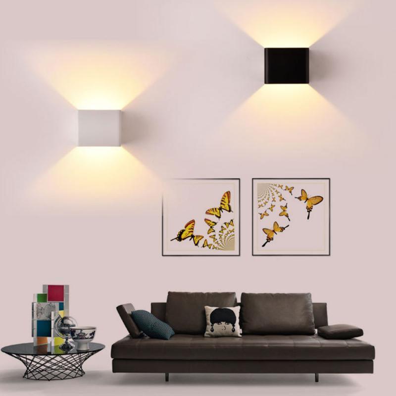 알루미늄 벽 램프 LED 실내 야외 빛 간단한 스타일 통로 통로 회랑 계단 침실 장식 침대 옆