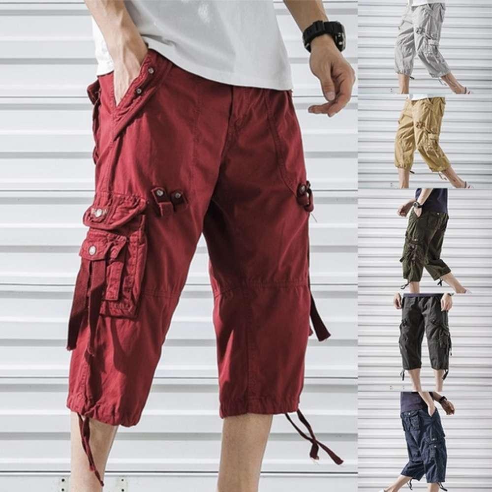 Pantalones cortos de carga hombres 2020 nueva llegada pantalones de carga de verano sueltos múltiples bolsillos pantalones cortos homme pants streetwear