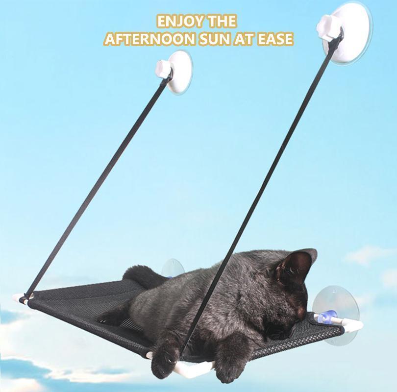 Cat Balcony Hammock Sunny Seat Pet Waterproof Fabric Bed Climbing Sleeping Mattress Single Layer Double Beds & Furniture