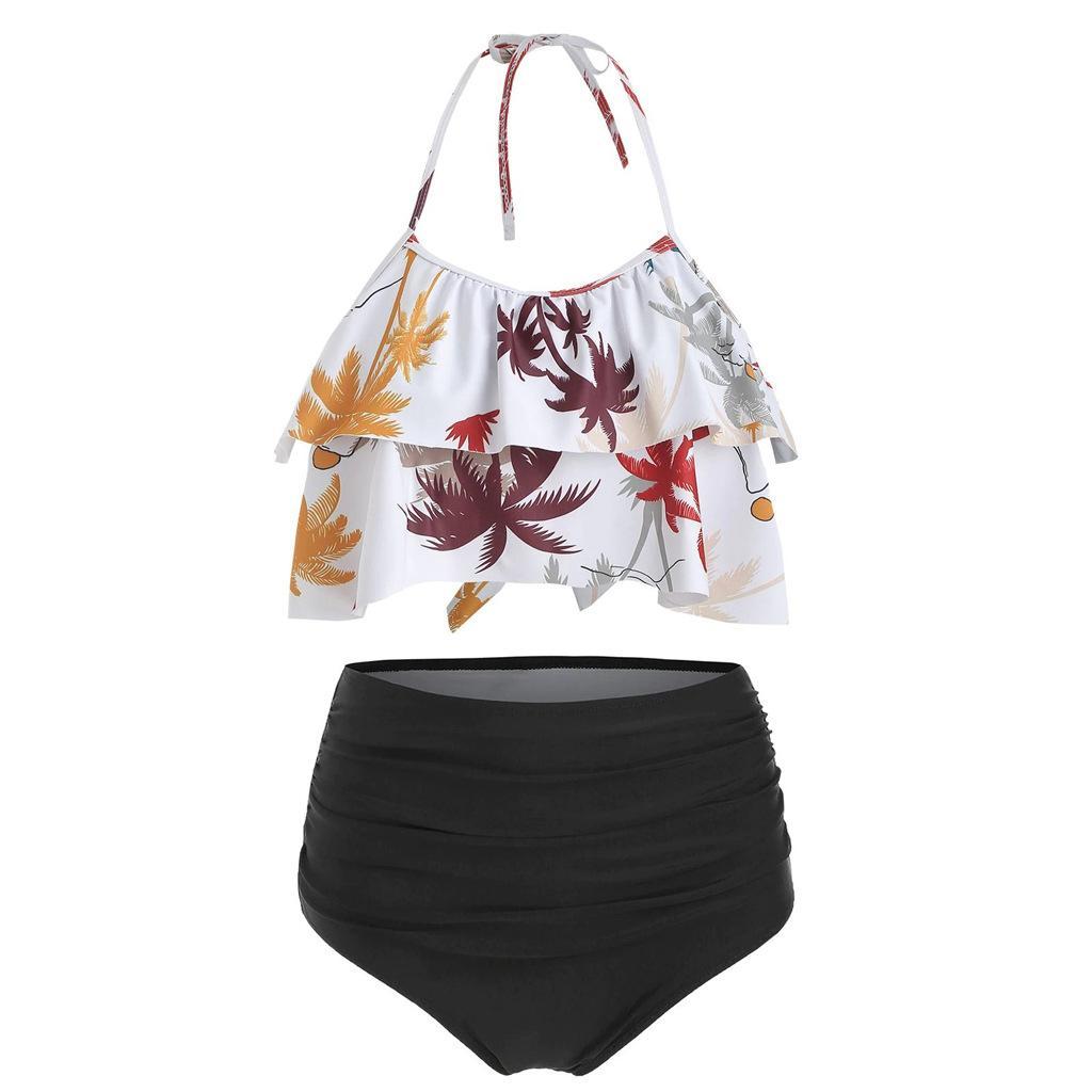 2021 Sexy N EW Costumi da bagno da donna Bikini Stampa Asciugatura rapida Summer Swimsuit da donna senza supporto in acciaio Abiti da bagno Costume da bagno PAD Codice di usura S-XL