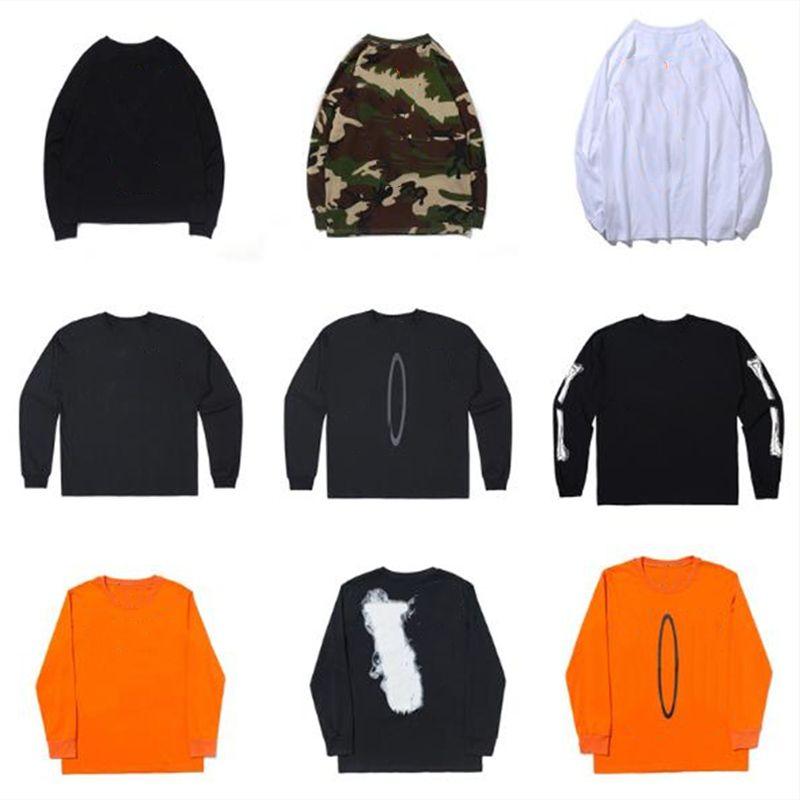 Erkek Hoodies Hip-Hop Turuncu Mor Büyük V Baskı Tişörtü Kazak Arkadaşlar Avrupa Boyut S-XL Bir Çeşitli Stil ve Renkler
