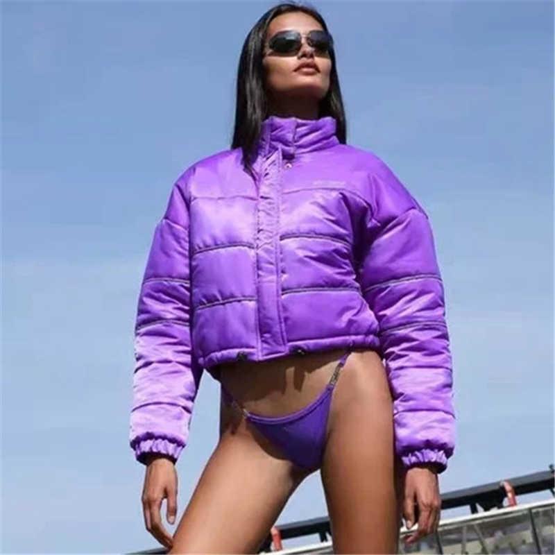 Harajuku Reflective Woman Winter Parka Plus Size Coat Women Warm Women's Down Oversized Streetwear Jacket 210531