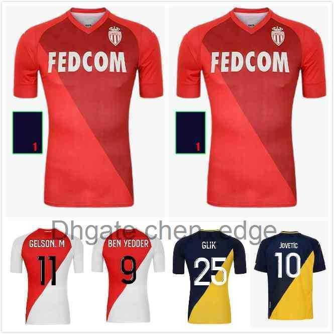 Como Monaco Maillots de Foot Ben Idder Futebol Jerseys 2021 2022 Glik Jovetic Gelson Fofana Tchouameni Keita Balde Camisa de Futebol