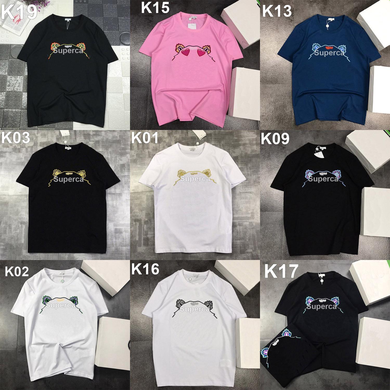 2021 Yaz Nakış Erkek Stylist T Shirt Moda Rahat Çiftler Kısa Kollu Yüksek Kalite Rahat Ekip Boyun Erkekler Kadın T-Shirt
