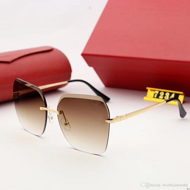 Sunglasses de concepteur Lunettes de soleil de luxe Marque de mode pour homme Verre Conduite UV400 ADUMBRAL AVEC BOX COULEUR DE HAUTE QUALITÉ