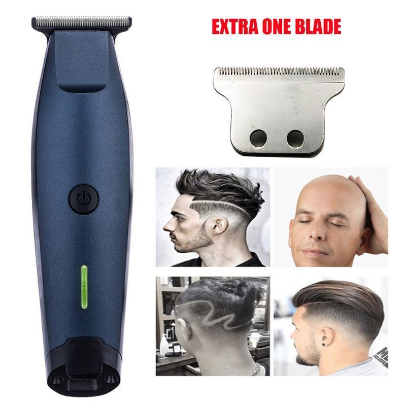Clippers de cabelo profissional clipper com extra uma lâmina recarregável alta potência elétrica apartador para casa ferramenta de penteado de barbeiro