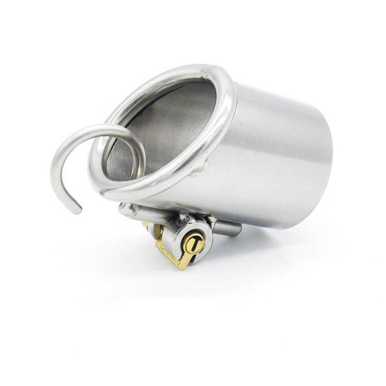 HappyGo, Edelstahl PA-Pünktung-Keuschheitsgeräte, nur für PA800- und PA600-Hahnkäfig, Penis-Verschluss, Hahnring, Keuschheitsgürtel, A213 Y19070602