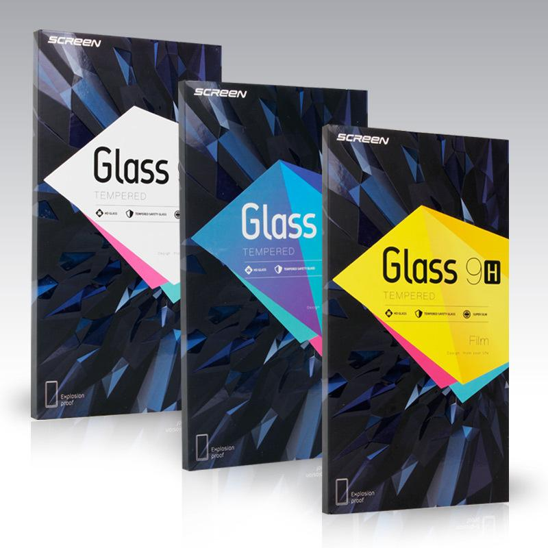 100 шт. Оптовая упаковочная коробка для пленки для мобильного телефона, защищенная губкой, есть много типов наклейки