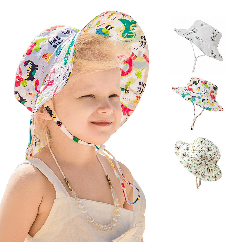 Baby emmer hoed kinderen meisjes zomer schattig dier gedrukt aanpassing vizier caps petten cap kinderen boutique accessoires