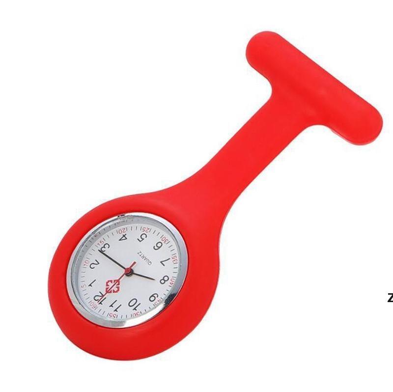 Presente de Natal Enfermeira Medical relógio de silicone clipe relógios de bolso moda enfermeira broche fob túnica tampa de túnica relógios de quartzo de silicone DHC6907