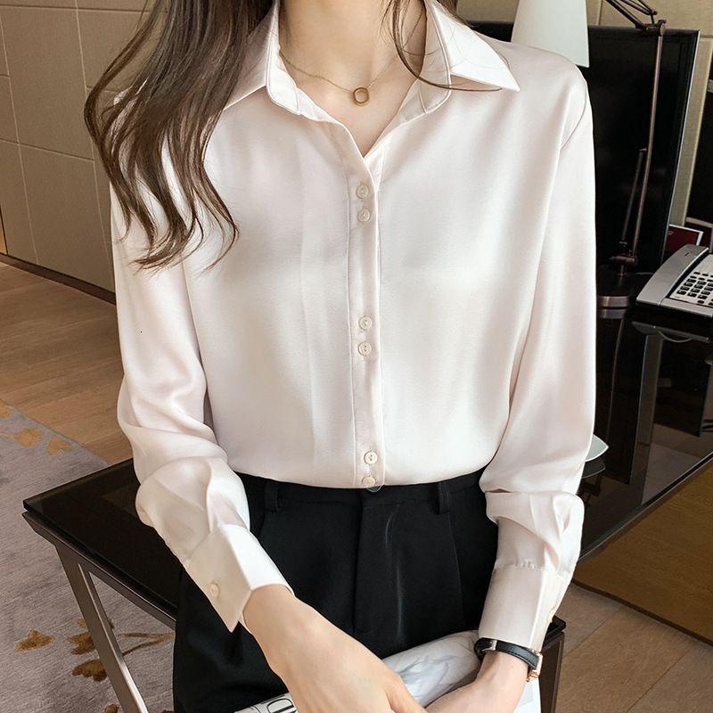 Sentido de diseño de mujeres de camisa de manga larga Niche 2021 primavera coreana floja camisa profesional