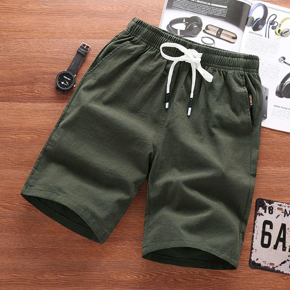 Hommes Casual Streetwear Streetwear Couleur Solide Mode Lâche Hommes De Haute Qualité Draps Coton Comfort Short