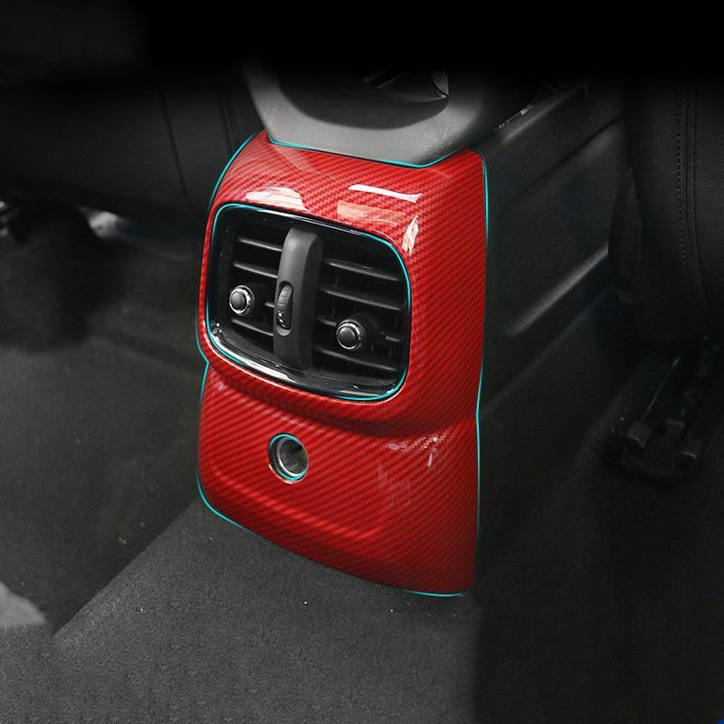 Carbon Fibre Climatisation Climatisation Couvercle Couvre-bouilleurs Stickers Decal pour Mini Cooper One JCW Countryman F60 Cylisme Autre intérieur A