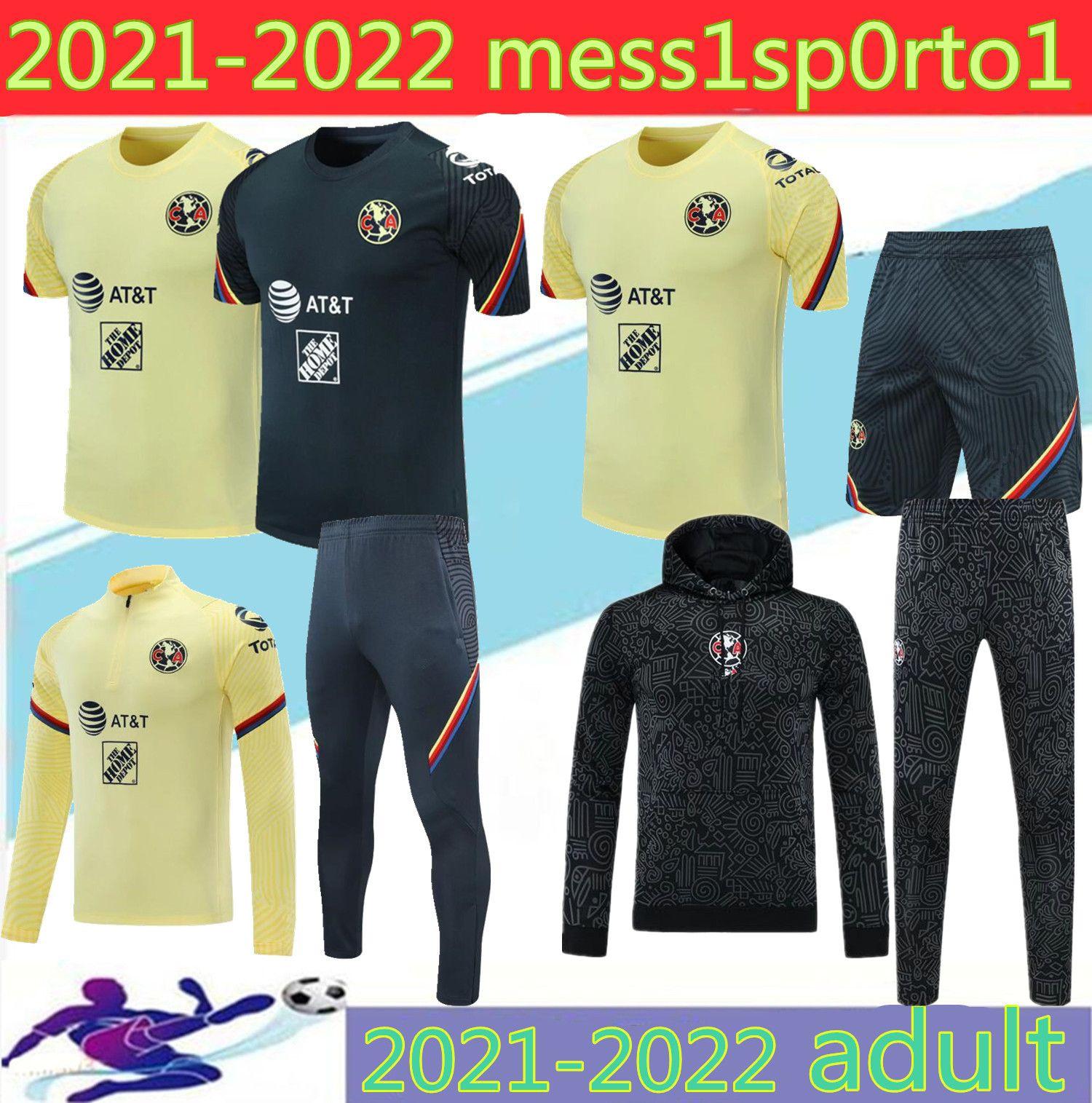 2021 멕시코 클럽 아메리카 재킷 남성 Tracksuit 축구 훈련 정장 20 21 3/4 Ciovanny G. Dos Santos R.Sambueza P.Aguilar 축구 재킷