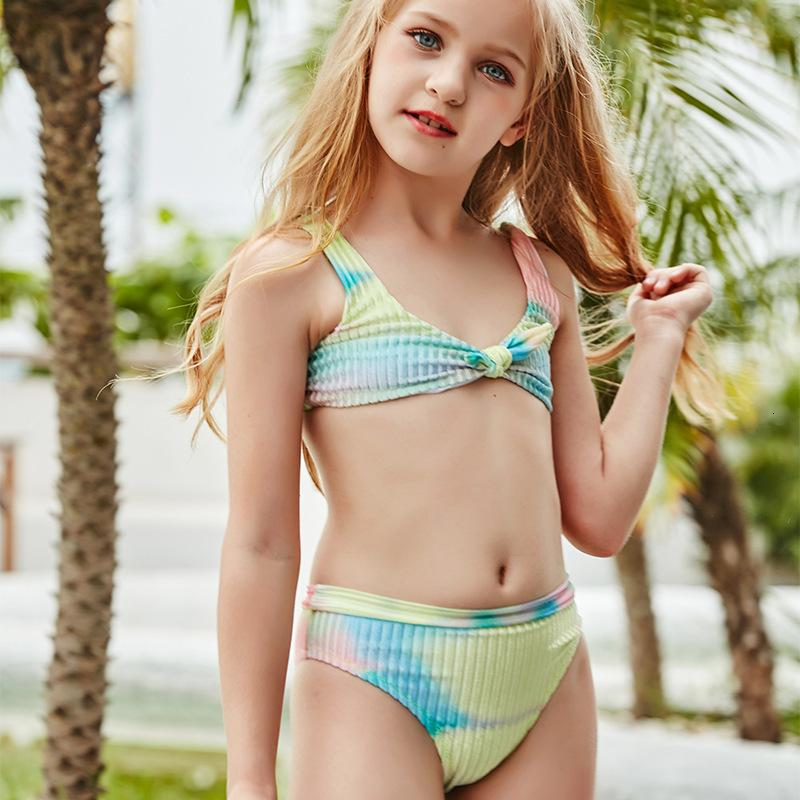 2021 Novo roupa de banho infantil Split Bikini Cute Little fresco especial