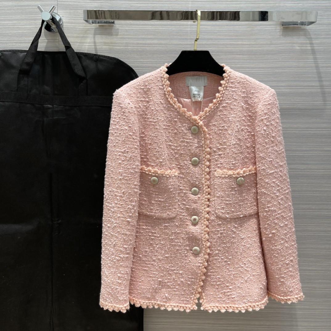 2021 Milan Runway manteaux o cou manches longues marquées marquées de même style blousons femmes de concepteur 0320-18
