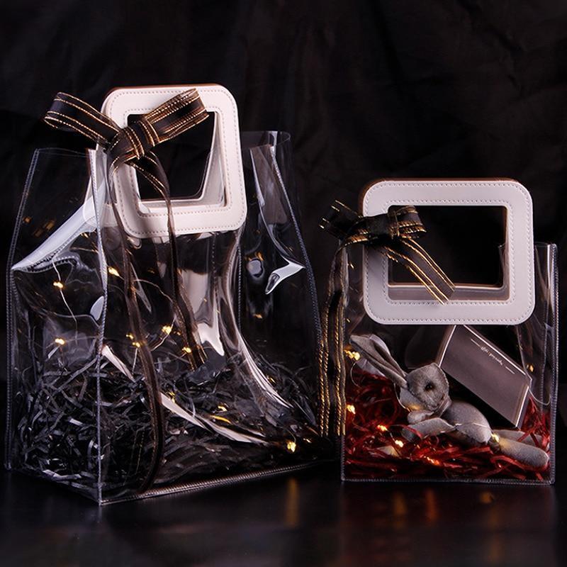 Saco de biscoitos de doces transparentes criativos para o dia dos namorados casamento casamento dama de dama de honra de embalagem sacos portáteis presentes portáteis