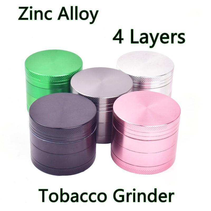 Min.2PCS Grinder Fumar 4 Capas 63mm Grindero de tabaco Metal de aleación de zinc para fumar humo de humo Vaporizador de hierbas
