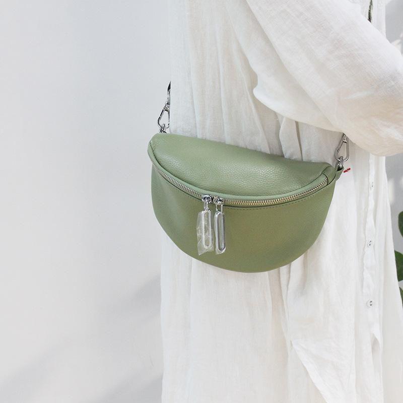 Pequeno saco moda macio couro largo alça de ombro messenger feminino sacos