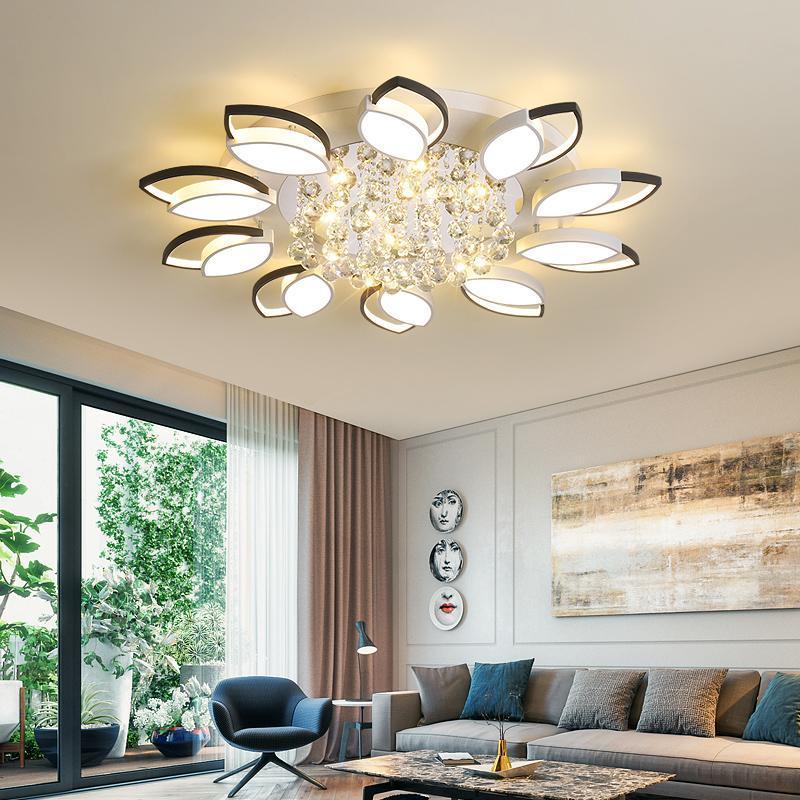 Modern LED Chandelier Crystal Ceiling Chandeliers Lights For Living Room Bedroom Kitchen Lustres Indoor Lighting Fixtures
