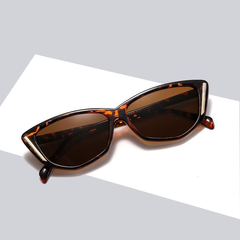 Gafas de sol de ojo de gato Mujeres de la marca de la marca Espejo de la marca Black Triángulo Gafas de sol Mujeres Sombras para hombres Eyewear UV400