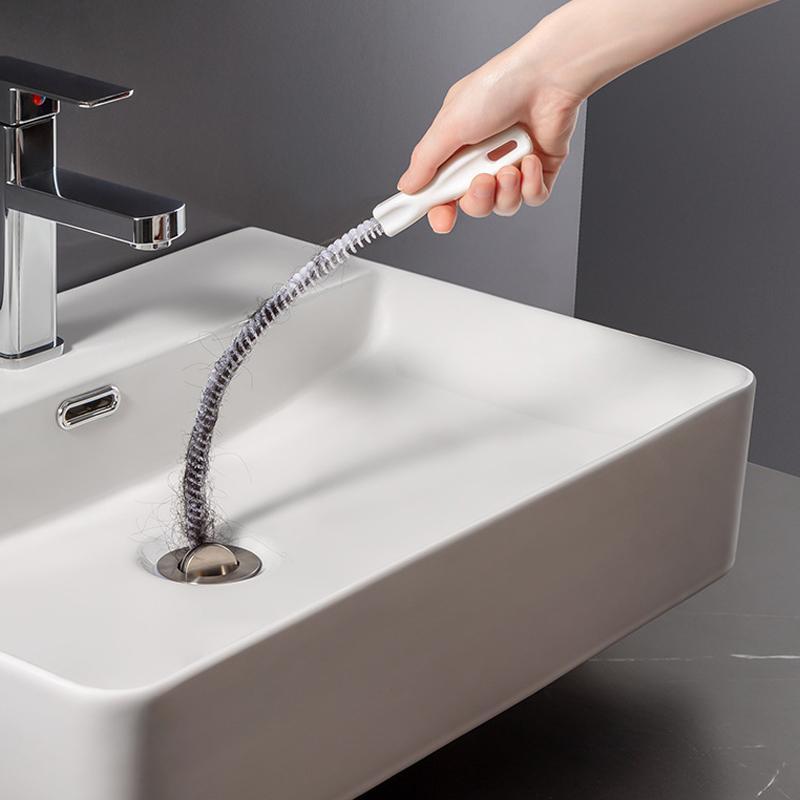 Outros banheiros Suprimentos de detritos Limpeza Anti-Cloging Catchers Dredge Portáteis Tubo Tip Tip Fomendário Multifuncional Bendable SE