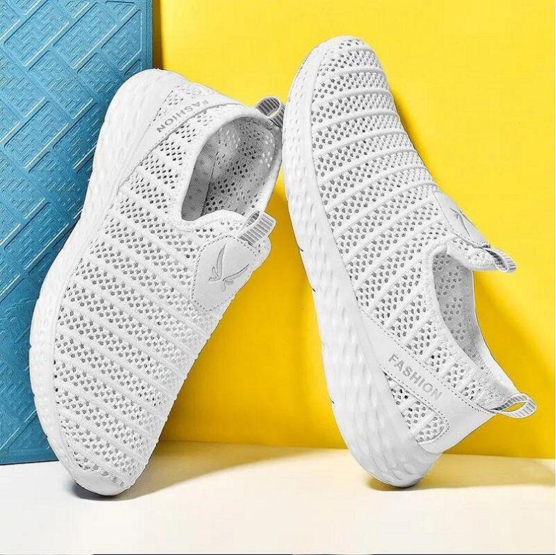 GRT365 Comfot спортивная обувь мужчины легкие бегунные сетки кроссовки пламя летающие тканые открытый тренер - Zapatillas Deportivas