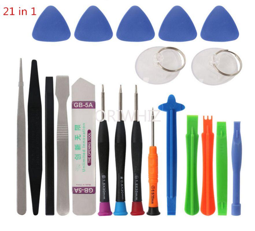 21 in 1 Repair Pry Tools Kit Spudger Opening Cup Star Torx Pentalobe Screwdriver Set for iPhone X 8 7 6S 6 Plus 11 Pro XS Cell Phone Repairing Durable Using
