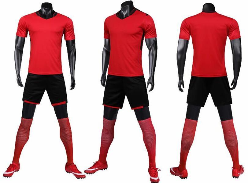 0131 Hommes Football Shirt Kits Jersey Football Taille adulte Taille à manches courtes Ensuite Ensemble de piste de piste jogging